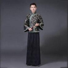Chinese ancient the qing dynasty garment national Men Cheongsam Tang suit sets Costume traditional Oriental Hanfu male vestido hu qing yu tang 250ml