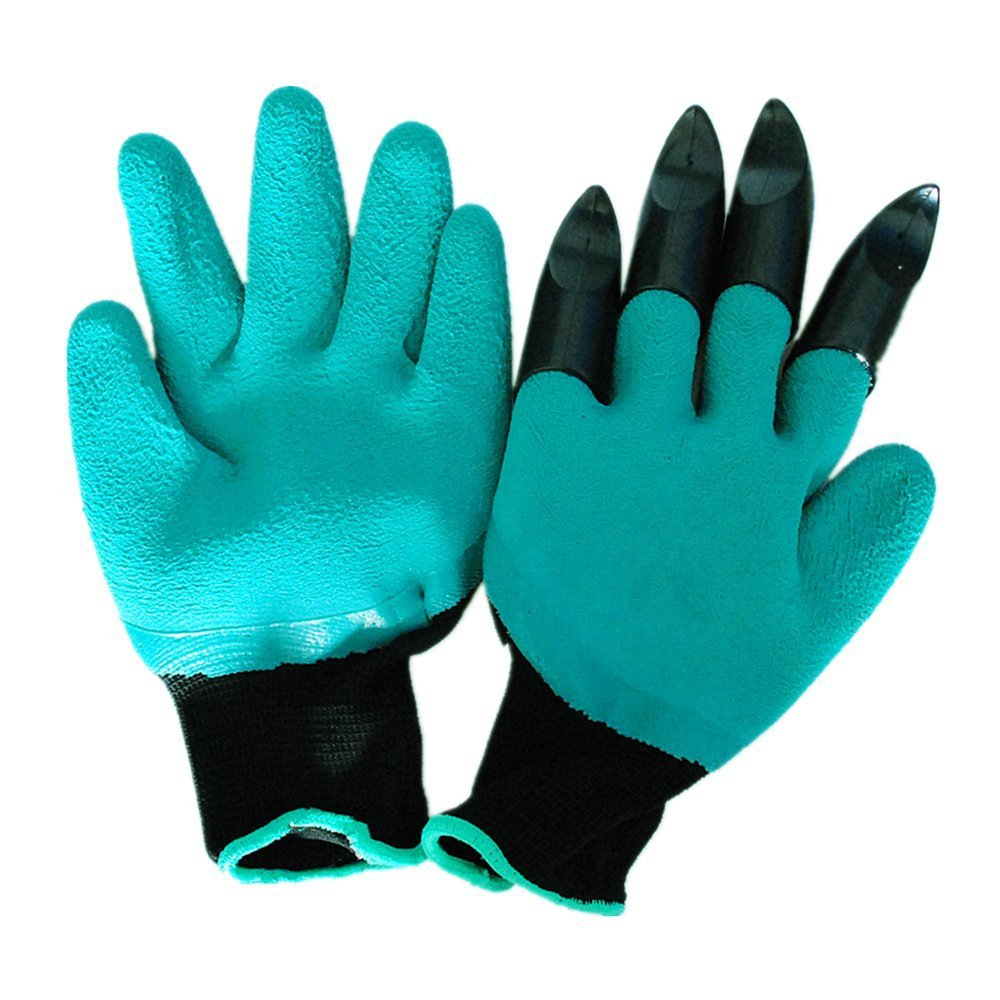 1 pair new High quality Garden Genie Gloves Garden gloves digging plant planting gloves new garden gloves for digging