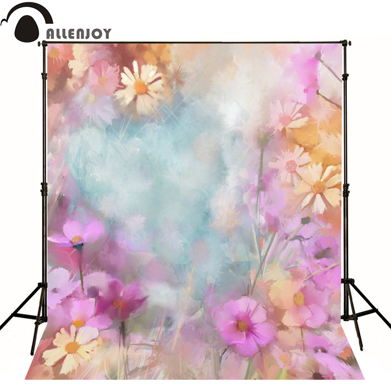 Allenjoy photography backdrops Watercolor Floral Fantasy Spring photo background newborn baby photocall lovely photo studio