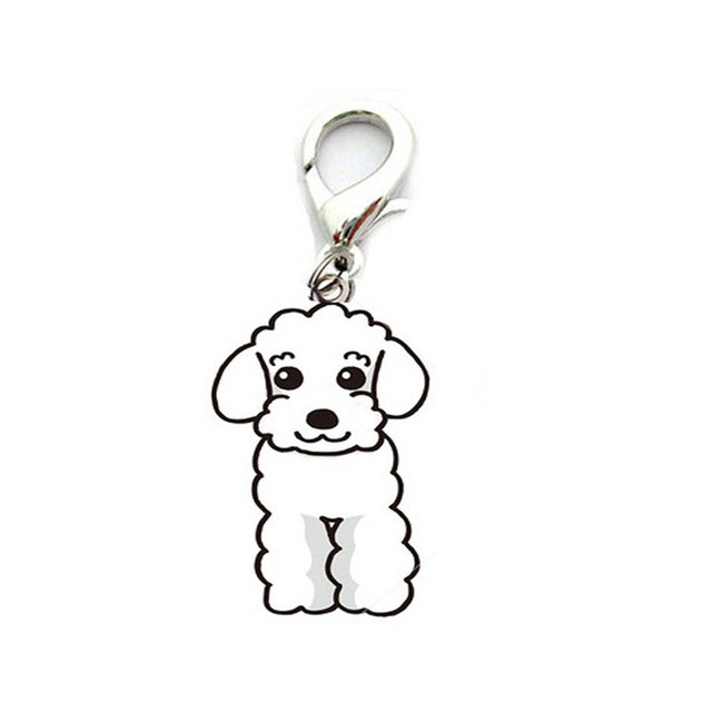dog collar Lovely Pets Dog Tag Disc Disk Pet ID Enamel Accessories Collar Necklace Pendant 906th