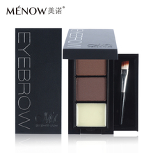 Menow Professional Eye Brow Makeup 2 Color Eyebrow Powder Eyebrow Wax Palette Contour Bronzer Shadow with