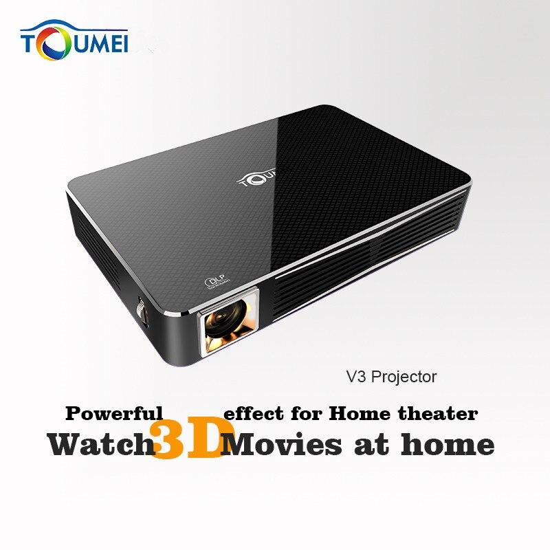 TOUMEI V3 3D 1080 P Full HD DLP Portátil Proyector 300 Lúmenes de Cine En casa A