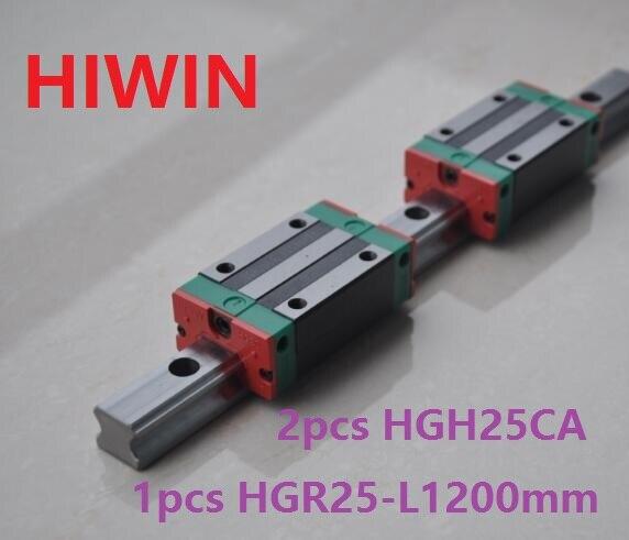1pcs 100% original Hiwin linear guide linear rail HGR25 -L 1200mm + 2pcs HGH25CA linear narrow block for cnc router hiwin taiwan made 2pcs hgr25 l 600 mm linear guide rail with 4pcs hgh25ca or hgw25ca narrow sliding block cnc part
