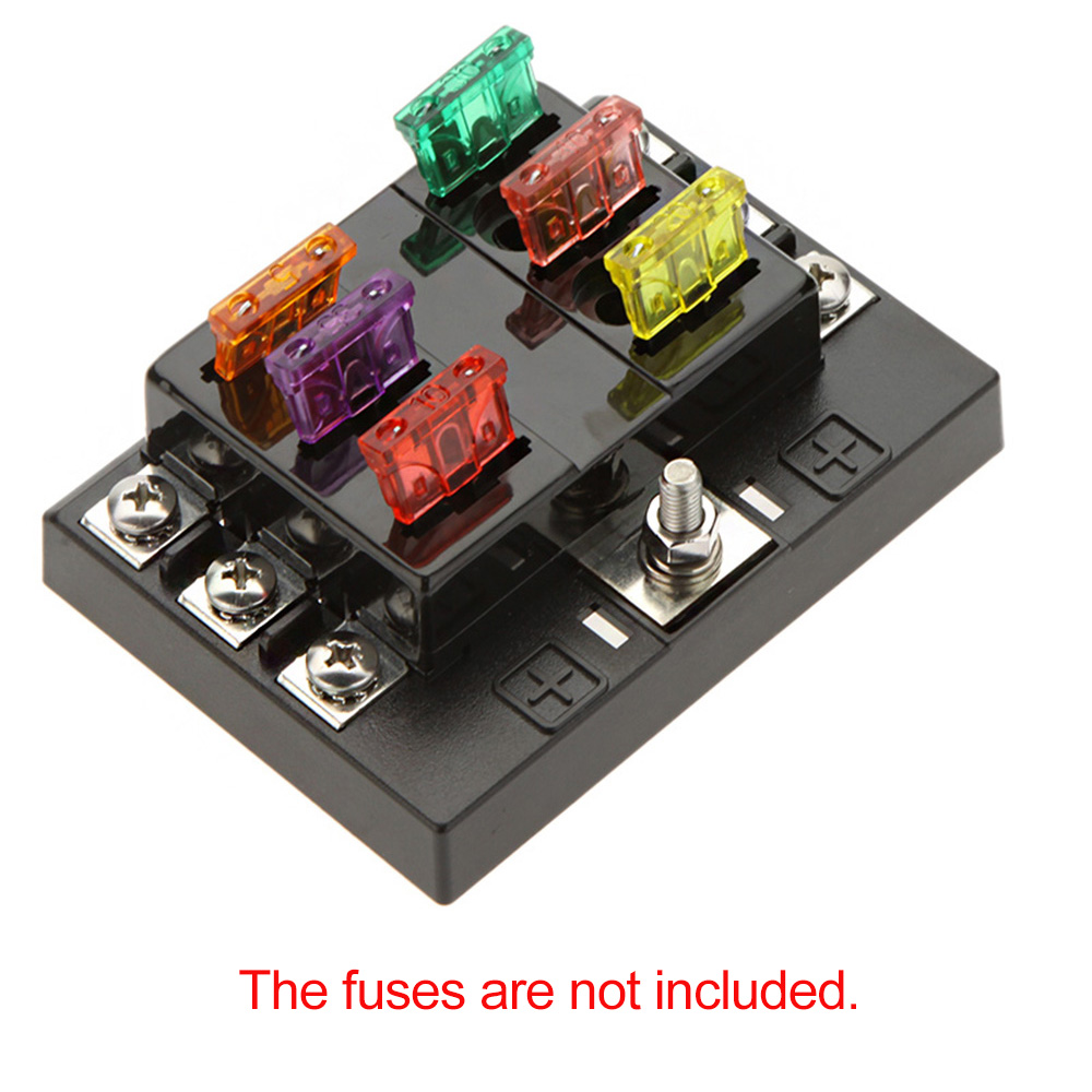 hot sale 6 way circuit car fuse box holder 32v dc waterproof blade rh aliexpress com hot tub fuse box hot water heater fuse box