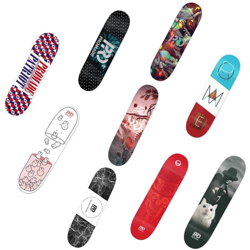 USA PROMADE Quality Canadian Maple Skateboard Decks 8 8.25 Pro Double Rocker Skate Board Deck for Men Skateboarding