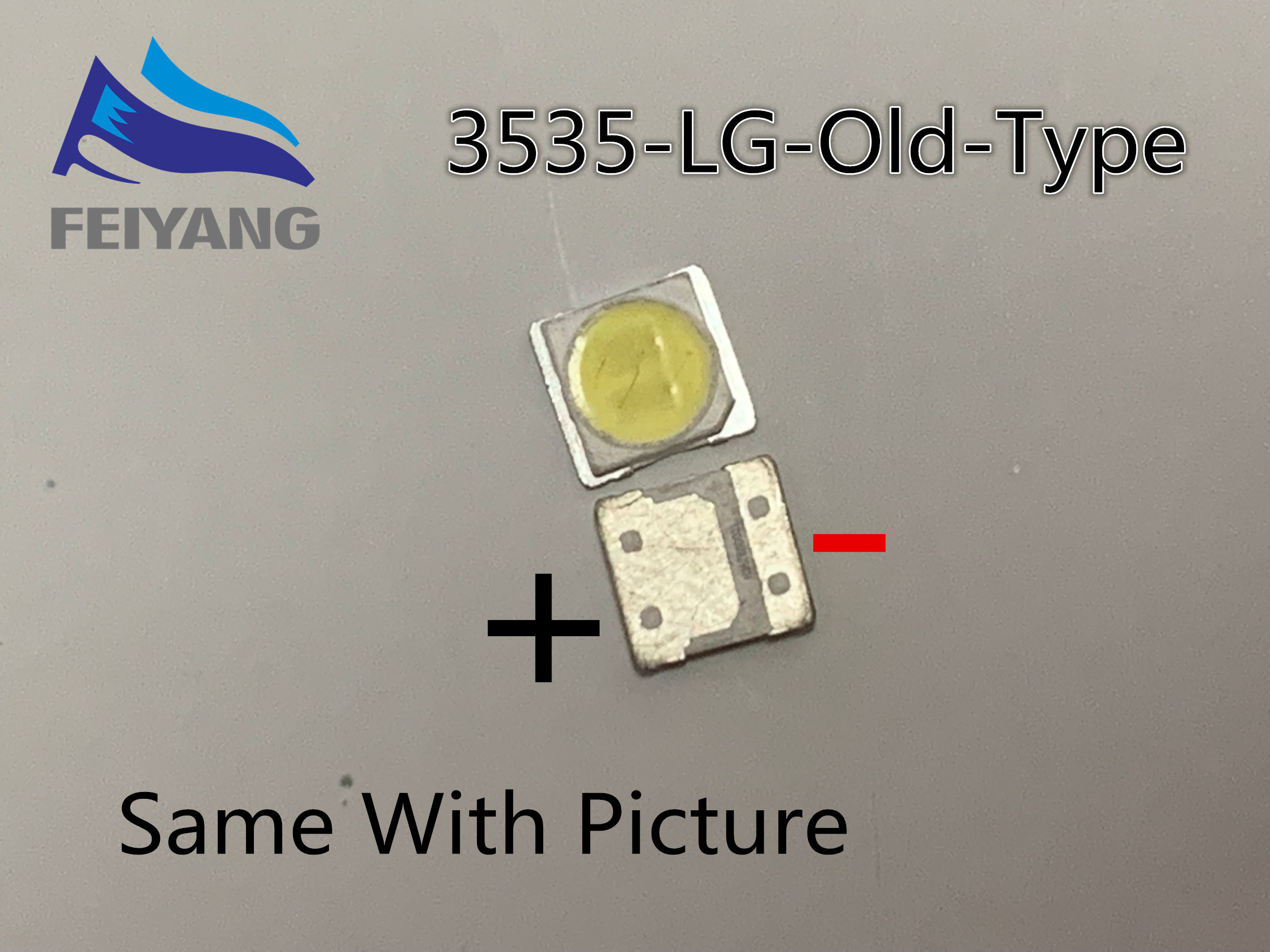 50PCS FOR LCD TV repair <font><b>LG</b></font> <font><b>led</b></font> TV backlight strip lights with light-emitting diode 3535 <font><b>SMD</b></font> <font><b>LED</b></font> 3535 2W 6V 150LM Old Type image