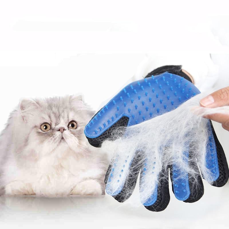 Silicone <font><b>Pet</b></font> <font><b>Brush</b></font> Glove Cat Dog <font><b>Grooming</b></font> Comb Furminat for Cat Dog <font><b>Bath</b></font> Cleaning <font><b>Brush</b></font> Deshedding Gentle Efficient <font><b>Hair</b></font> <font><b>Removal</b></font>