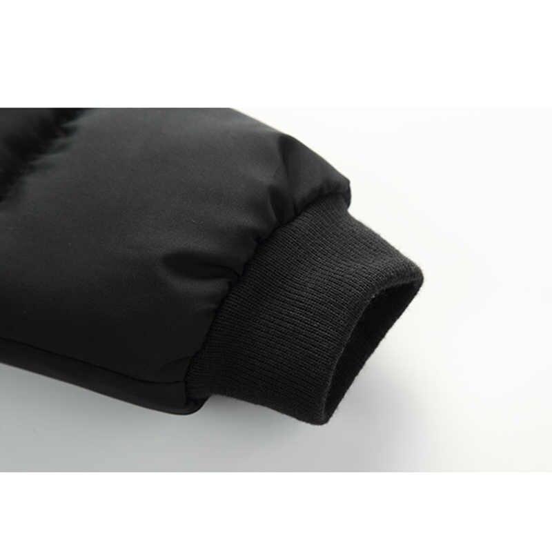 Куртка для мальчиков; Новинка 2019 года; брендовые зимние куртки с капюшоном; камуфляжные парки с граффити для мальчиков-подростков; плотное длинное пальто; детская одежда