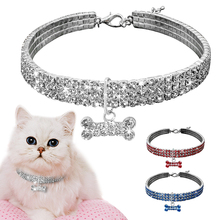 Bling Dog Collar for Small Dogs Cat Necklace Rhinestone Diamante Pet Puppy Supplies Accessories