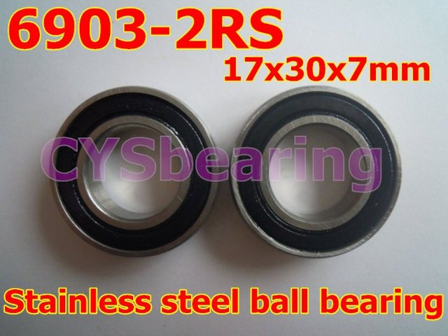 radial shaft stainless steel 440 S6903 2RS SS6903 61903 6903 2RS 17X30X7 mm deep groove ball bearing