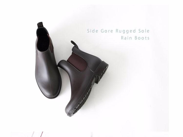 Hellozebra Women Rain Boots Lady Low Heels Solid Pleated Black Waterproof  Welly Buckle Nubuck Rainboots 2016 New Fashion Design (1)