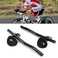 1 Pair Bicycle Rest Handlebar Aluminium Alloy Mountain Road Bike Cycling Race Triathlon Handlebar Aerobars Handle
