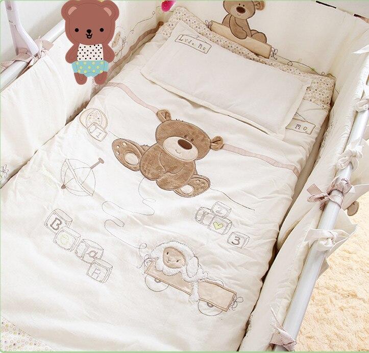 Aliexpress Com Buy White 100 Cotton Embroidery Bear