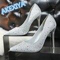 Fashion Shoes Woman High Heels Pumps High Heels 11CM Bright Diamond Women Shoes Wedding Shoes Pumps  Shoes Heels 6 Colors