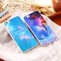 Blu-ray kisscase luxo glitter estrelas tpu soft case para iphone 5 5s SE 6 6 s Mais Fino Utral Brilhante Casos Voltar Capa Capa Shell