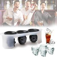 3Pcs Skull Ice Cube Tray Ice Molds Home Kitchen Tool Bar Supply Cool Gadget