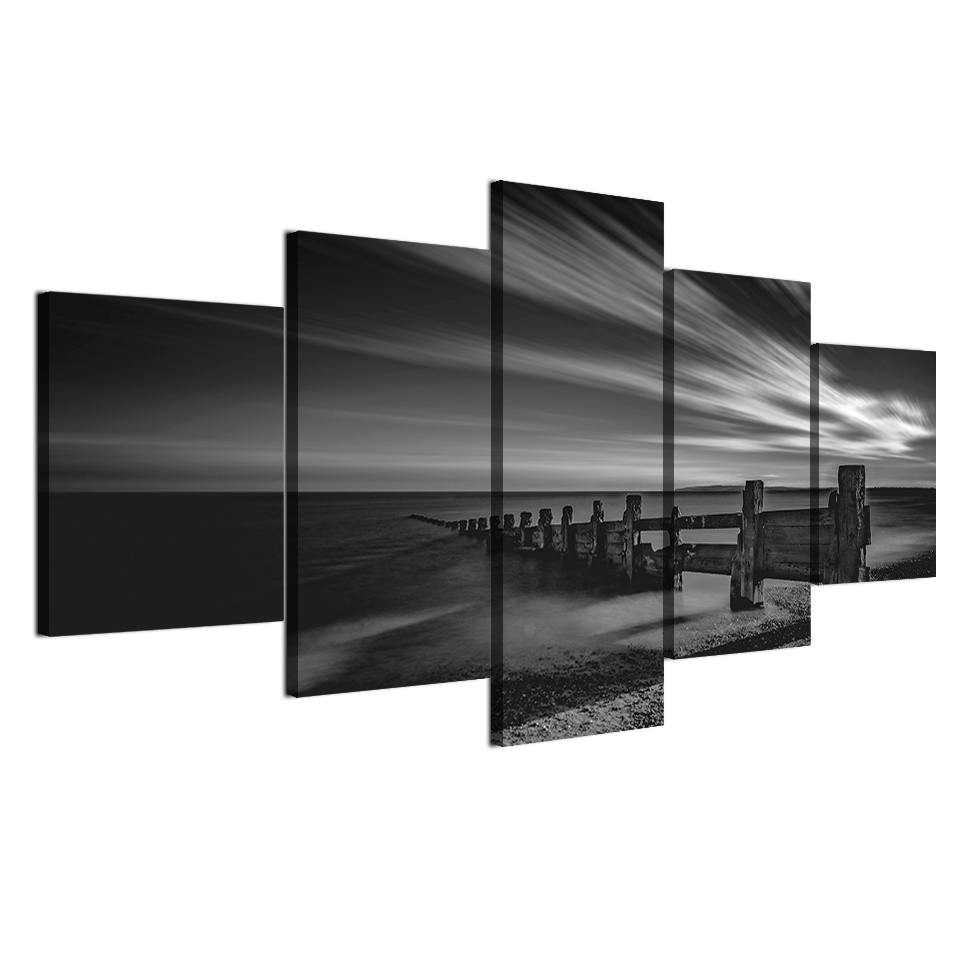 HD печати 5 шт. холст картины деревянный Пирс Coast картина демон Hunter картинки для гостиной Бесплатная доставка XA-2139B