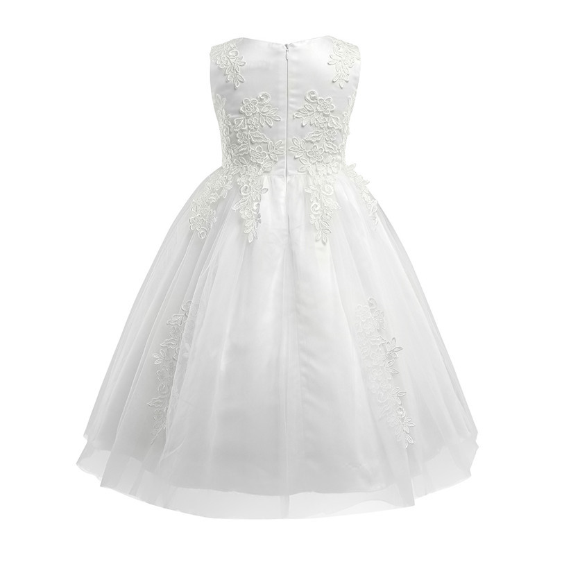 Image 2 - White/Ivory First Communion Dresses Girls Water soluble Lace Infant Toddler Pageant Flower Girl Dresses for Weddings and Party-in Flower Girl Dresses from Weddings & Events