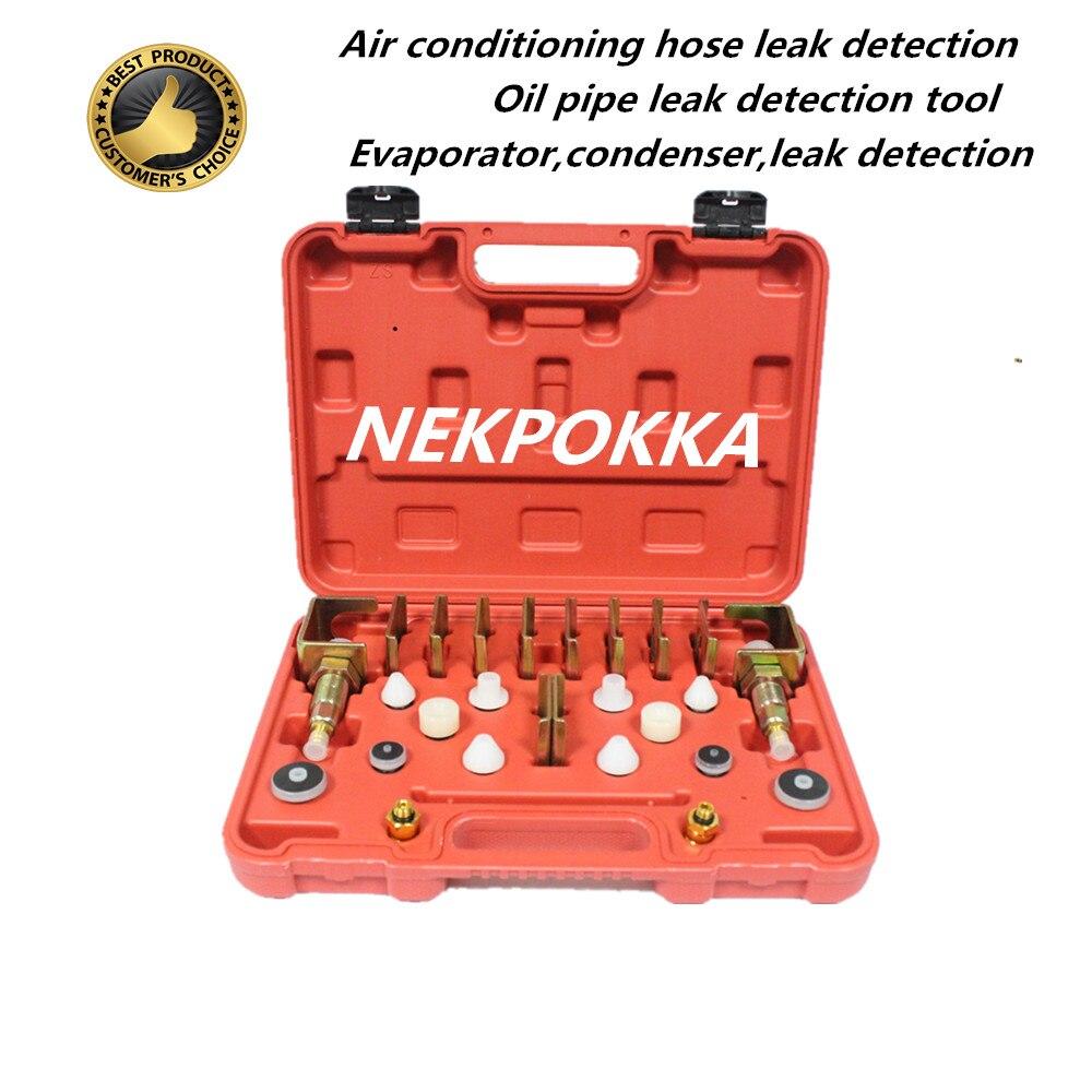 Herramientas de detección de fugas del sistema de aire acondicionado del automóvil, herramientas de detección de fugas de tuberías refrigerantes de aire acondicionado,