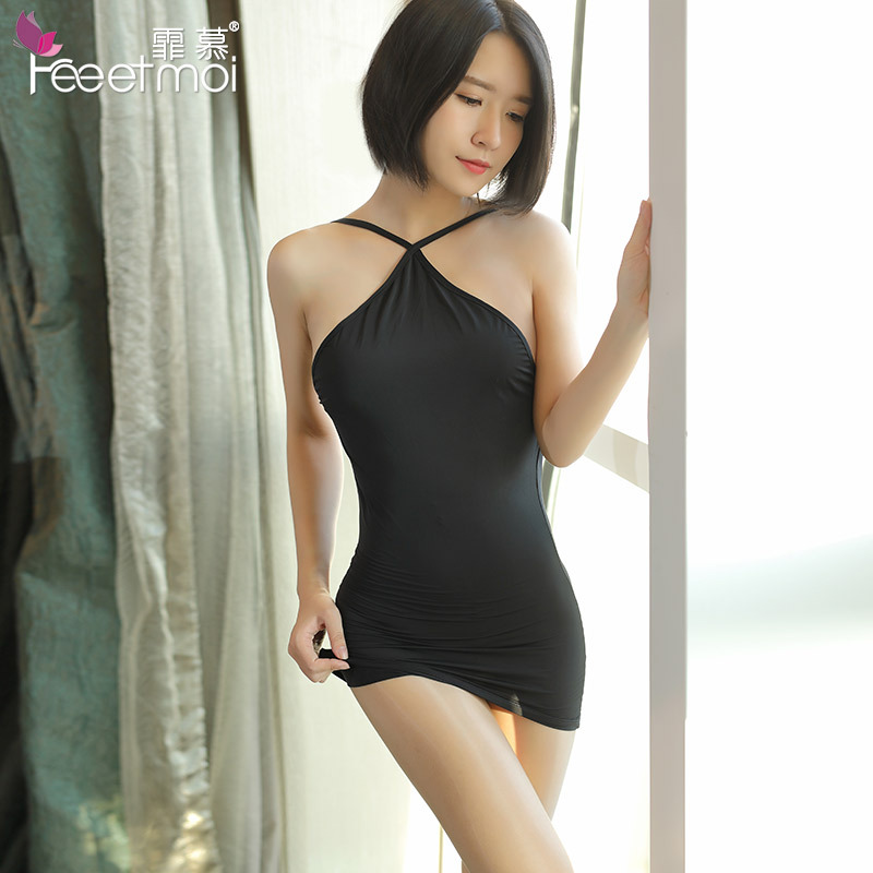 Bodycon Women Sexy Dress Party Night Club Dress White Black Slip Silk Satin Erotic -5455