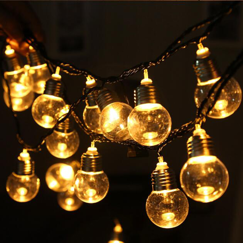 Large Bulb String Lights Wedding