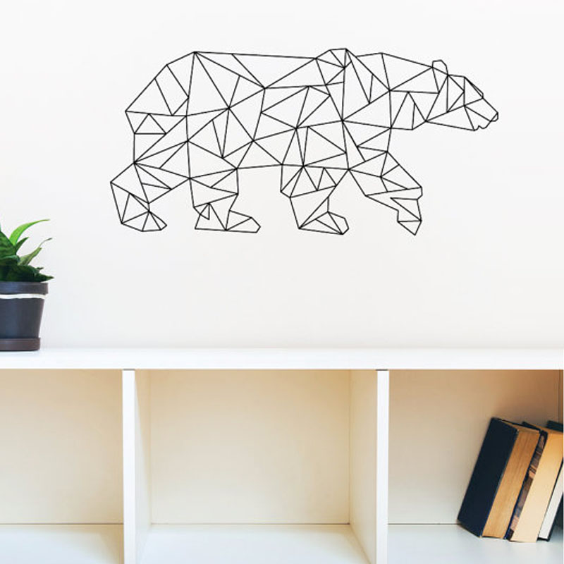 online buy wholesale geometric vinyl wall decals from geometric triangles wall stickers by the binary box