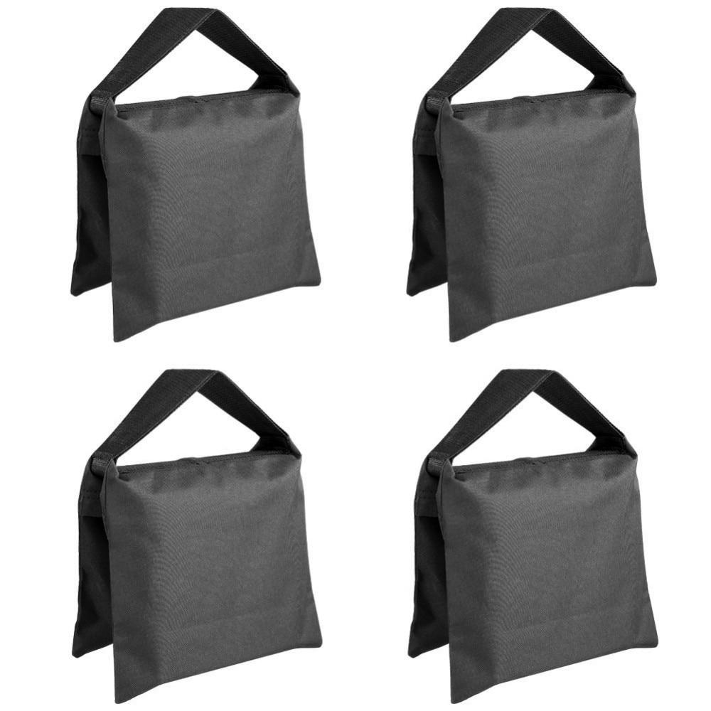 Neewer тежкотоварни фотографски пясък торбичка студио видео пясък чанта за светлина щандове, бум стойка, статив -4 пакети комплект  t