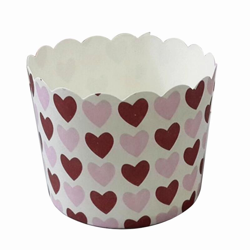 Große Größe 50 Stücke Cartoon Hübsche Meerjungfrau Prinzessin Cupcake Papier Kuchen Fall für hochzeit geburtstag Valentinstag partei kuchen tasse