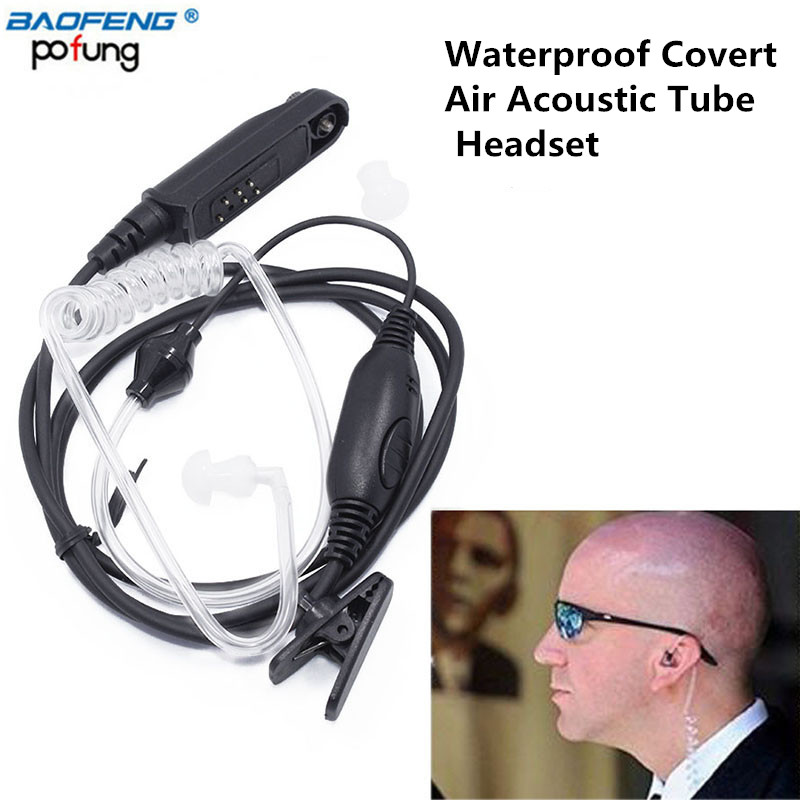 Baofeng Waterproof Covert Air Acoustic Tube Earpiece For BaoFeng UV-XR UV-9R plus/82WP BF-9700/A-58 R760Two Way Radio Series