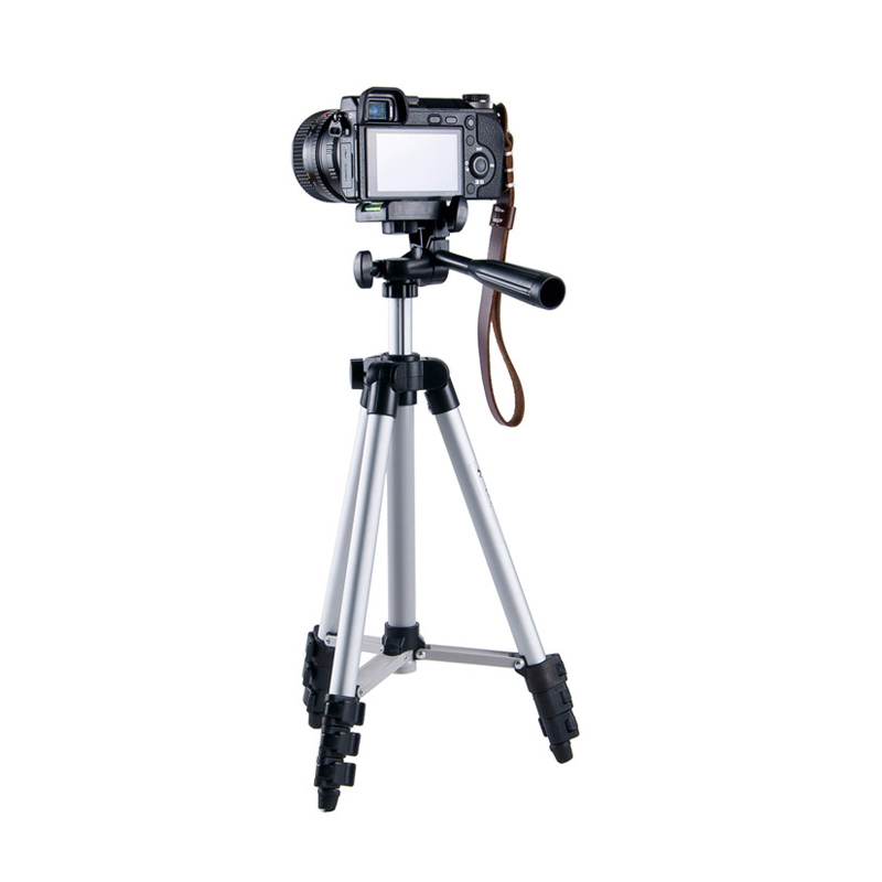 Professional Aluminum Alloy Camera Tripod with Rocker Arm