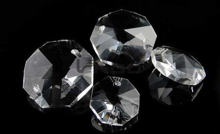 180 pcs 18mm cristalinas octagon contas de vidro candelabro cadeia decoracoes