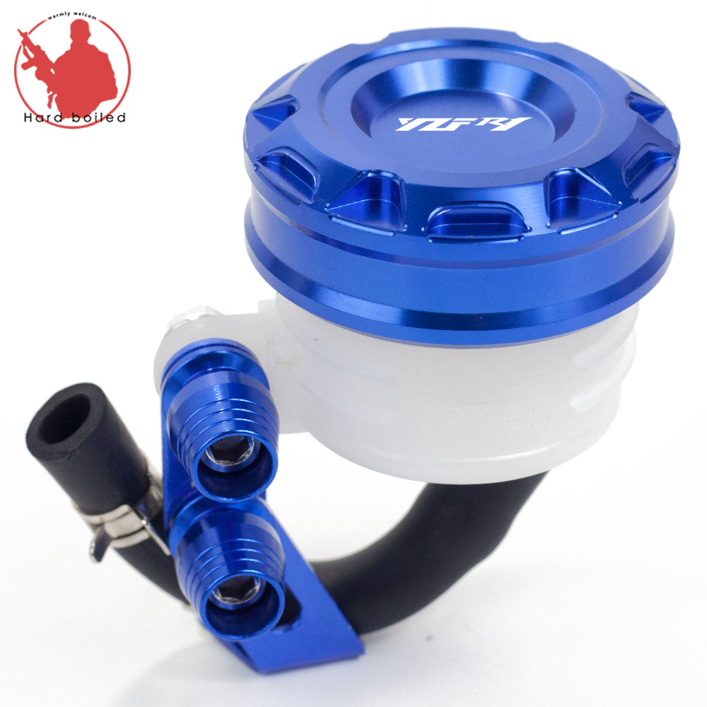 Universal Motorcycle Brake Fluid Reservoir Clutch Tank Oil Fluid Cup For Yamaha YZF-<font><b>R1</b></font> YZF <font><b>R1</b></font> YZFR1 2004-2014 <font><b>2009</b></font> 2010 2011 image