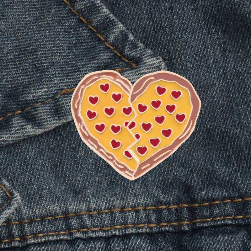1pcs New Car Heart Red Wine Ribbon Badge Diy Clothing Decorative Accessories Cartoon Funny Metal Brooch Clothes Jeans Jewelry Arts,crafts & Sewing Badges