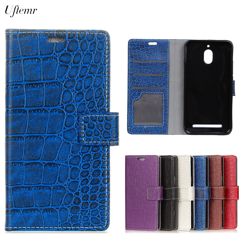 Uftemr Vintage Crocodile PU Leather Cover For BlackBerry Aurora Protective Silicone Case Wallet Card Slot Acessories