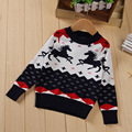 2016 Winter Baby girls sweaters and pullovers Christmas sweater for girls Cotton Cartoon Animal Horse knitted sweater boys tops