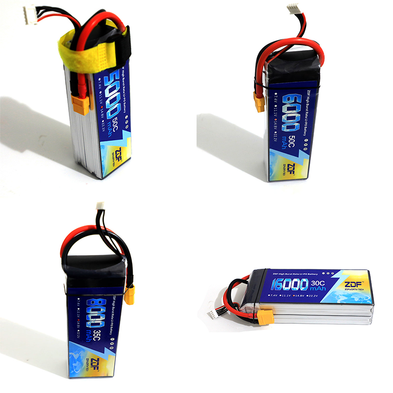 ZDF LiPo Battery 14.8V 4S 5000mah 50C 6000mah 50C 8000mah 35C 16000mah 30C for RC Helicopter Airplane Car Boat Drone hrb rc lipo 4s battery 2200mah 5000mah 6000mah 30c 50c 14 8v li polymer bateria akku for rc car quadcopter helicopter airplane