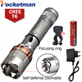 Torch Linterna Potente Cree XM-L T6 3800LM Rechargeable Torch Lamps powerful Lantern Tactical linternas Zaklamp LED flashlights