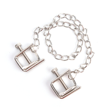Metal Chain Nipple Clamps Sex Flirt Breast Stimulator Nipple Clips Toys Adult Product Sex Couple Game For Lovers