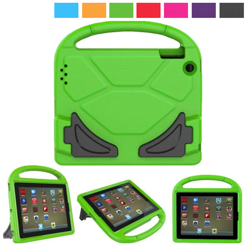 New Children Birthday Gift Kids Shockproof Wheel Steering Protective Safe EVA Foam Soft Stand Cover Case for iPad 2 3 4