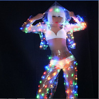 women clothes led light jacket party dance led costumes suit