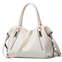クラシックデザイン女性ハンドバッグトートpuレザー女性のバッグ用オフィスレディースメッセンジャーバッグ高品質ブラックピンクホワイトブラックピンク