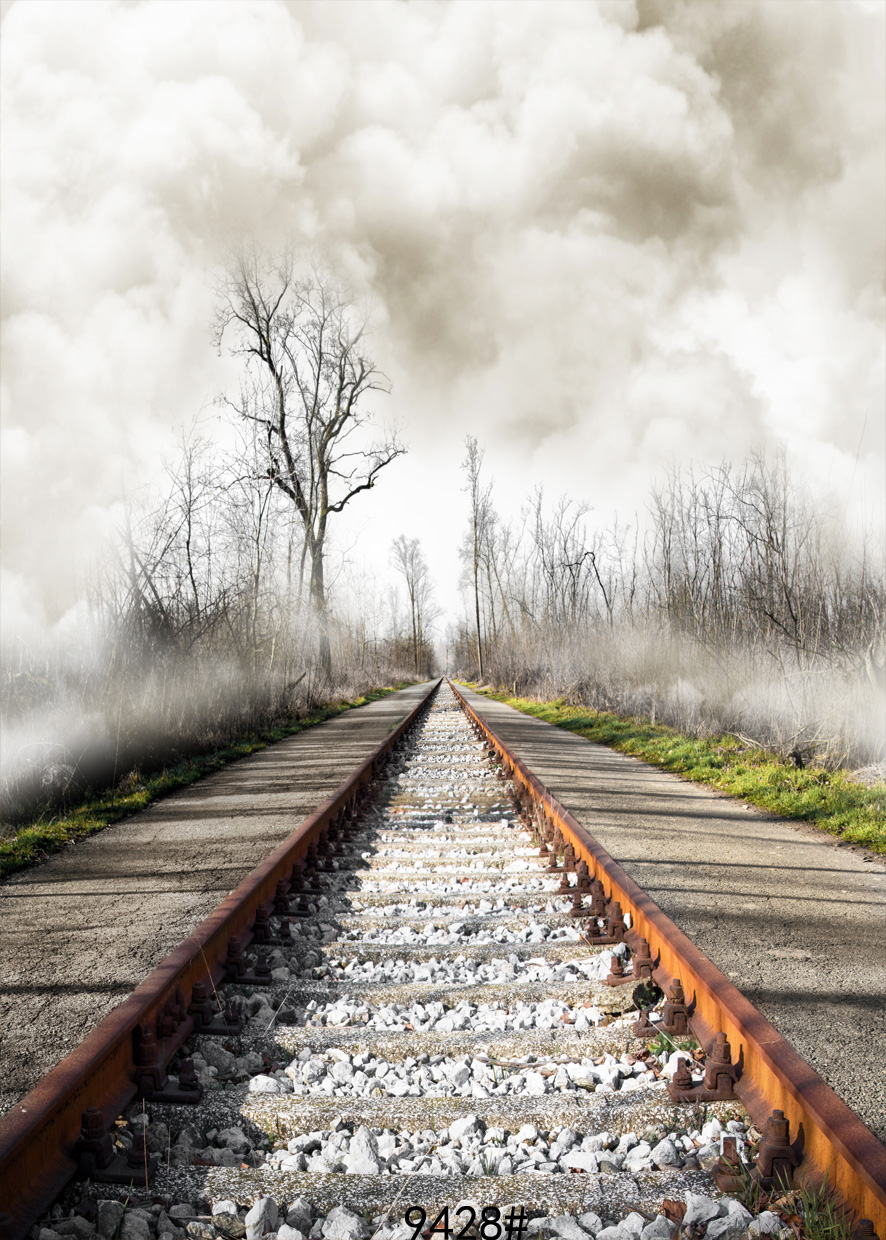 240x300cm Railway image background photography-studio-backdrop fond studio photo vinyle achtergronden voor fotostudio