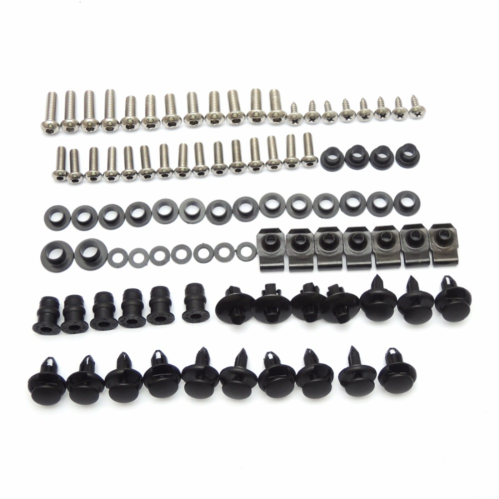Motorcycle Fairing Bolt Screw Nuts Washers Fastener Fixation for SUZUKI GSX-R1000 GSXR 1000 2005 2006 Full Kit FREE SHIPPING (13)