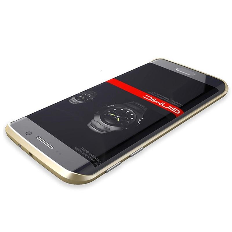 Original Ginmic Aluminum Metal Bumper For Samsung Galaxy S7 Edge Case Frame With Metal Button