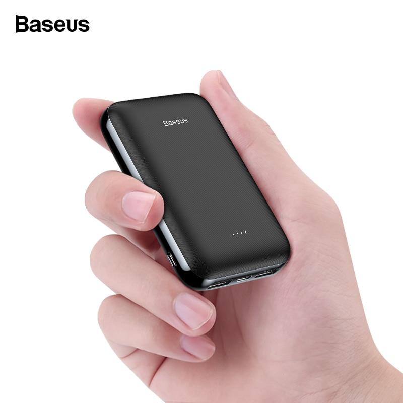 Baseus 10000mAh Mini Power Bank Small Portable Charger 10000 mAh Powerbank For iPhone Xiaomi Samsung External Battery Poverbank