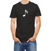 T Shirt Music Note Hip Hop Simple Splicing Tee Tops Shirt Cotton Tee Shirts For Men
