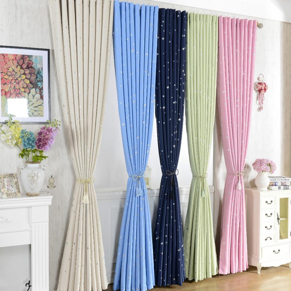 estrellas modernas cortinas de ventana para nios nios nias bedding living room elegent bule cortinas cortinas