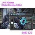 9x10 Pulgadas Arte Profesional Grafiktablett 2.4G Inalámbrico Digital Tablet 250 RPS Tabletas Gráficas Dibujo de Notas con Bolígrafo para la Computadora