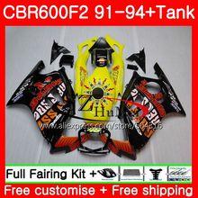Body For HONDA CBR 600F2 Repsol yellow CBR600FS CBR 600 F2 FS 45SH21 CBR600 F2 91 92 93 94 CBR600F2 1991 1992 1993 1994 Fairings