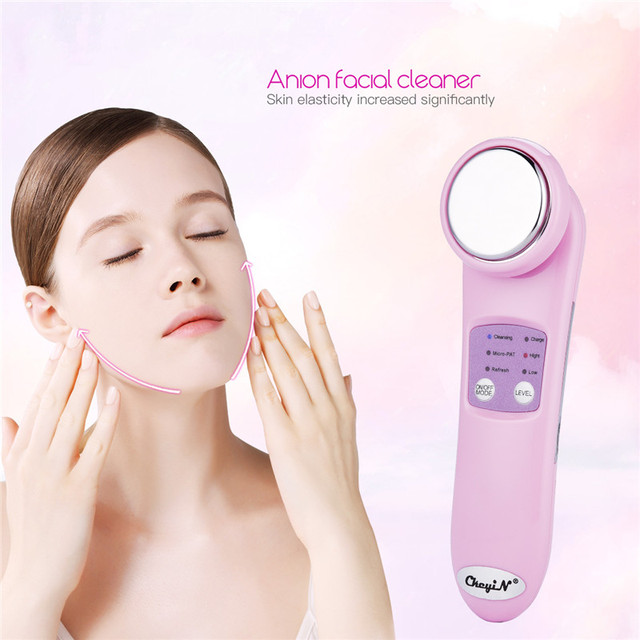 Anion Facial Cleaner Vibrating Face Massager Wrinkle Remove Skin Whitening Face Lifting Firming Pore Cleansing Beauty Device 0